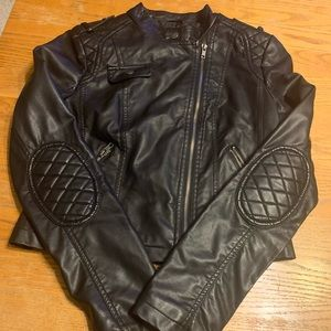 Juniors faux leather jacket